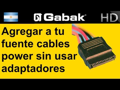 Como agregar cable power SATA a tu fuente de pc