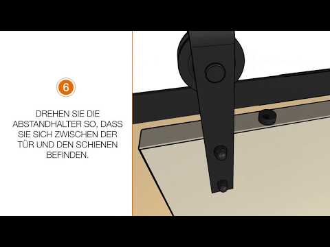 intersteel video anleitung wie montiere ich ein schiebet rsystem an einer holzwand youtube. Black Bedroom Furniture Sets. Home Design Ideas