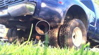 99 ford f 350 7 3 straight pipe 4 inch exhaust to 10 inch tip