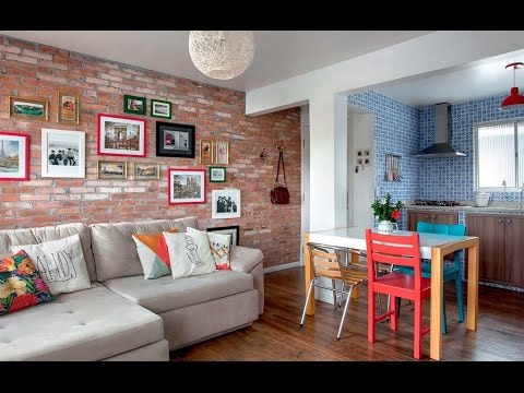 Como decorar uma sala pequena conjugada com cozinha e copa for Salas pequenas para casas pequenas