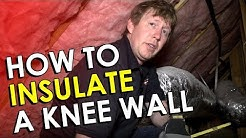 Knee Wall Insulation DIY - How to Insulate a Knee Wall in Your Attic