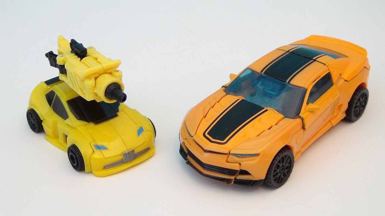 Transformers 4 Bumblebee Evolution 2 Pack Video Toy Review