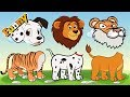 Wrong Heads With Cartoon And Animals – Tiger, Dogs, Lion – Funny Cartoons For Children