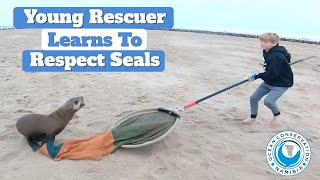 Young Rescuer Learns to Respect Seal