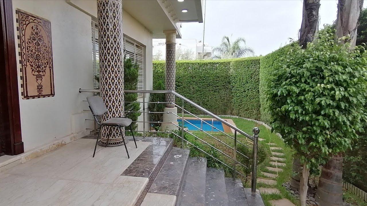 فيلا رائعة بالمسبح للبيع بفاس العتيبة طريق عين الشقف villa maroc a vendre