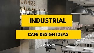 70+ Awesome Industrial Cafe Design Ideas