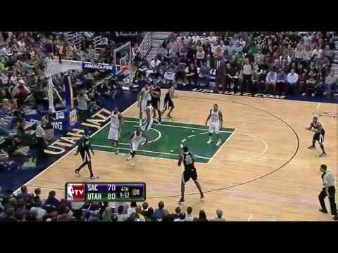 Kings Rookie Isaiah Thomas 4th qtr highlights vs Jazz .28.01.12