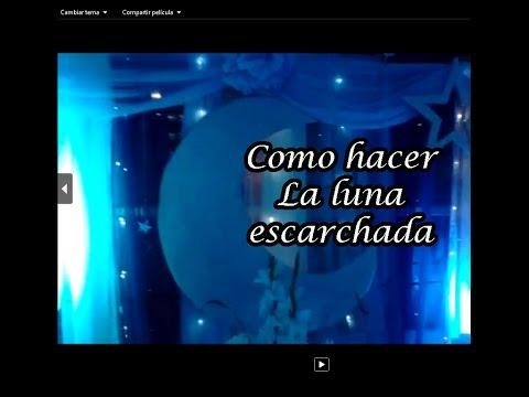 LUNA ESCARCHADA, PARA FIESTA DE 15 TEMATICA LUNAS Y ESTRELLAS