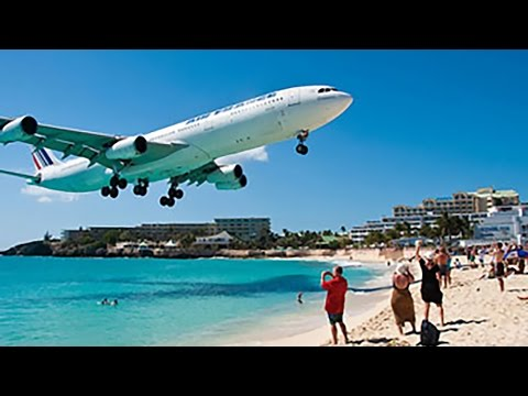 INSANE PLANESPOTTING! Maho Beach Saint Maarten Princess Juliana Int'l Airport - FULL 1080p HD!