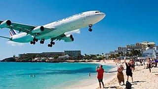 INSANE PLANESPOTTING! Maho Beach Saint Maarten Princess Juliana Int