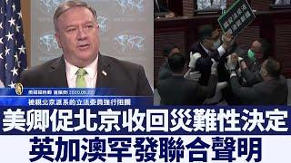 美卿促北京收回災難性決定 英加澳罕發聯合聲明|新唐人亞太電視|20200524