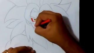 Drawing Goku SSJ4 - Sketch Draw