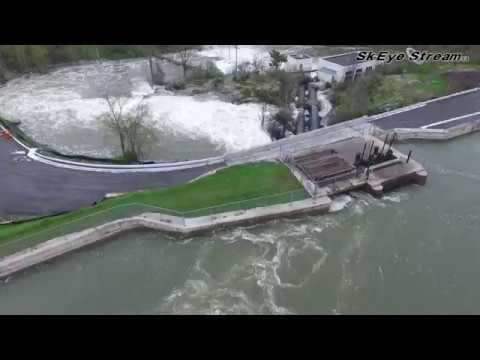 Kingston Mills Road -  Before and After The Flood