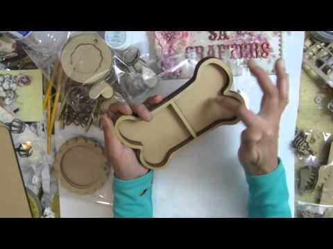 wood dog bone tray shadow box wood tags mini telephone btterfly 12