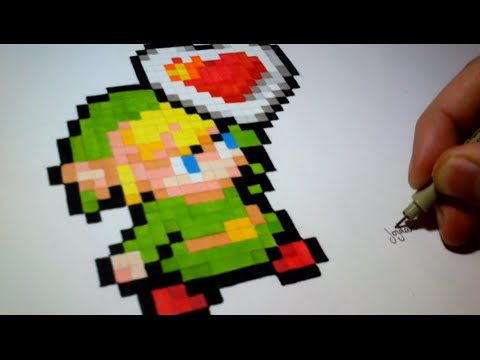 Pixel Art How To Draw Link The Legend Of Zelda