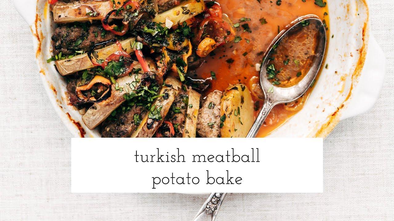 Turkish meatball potato bake youtube youtube premium forumfinder Choice Image