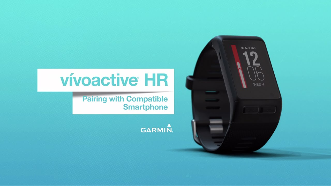 vívoactive HR: Pairing With a Compatible Smartphone