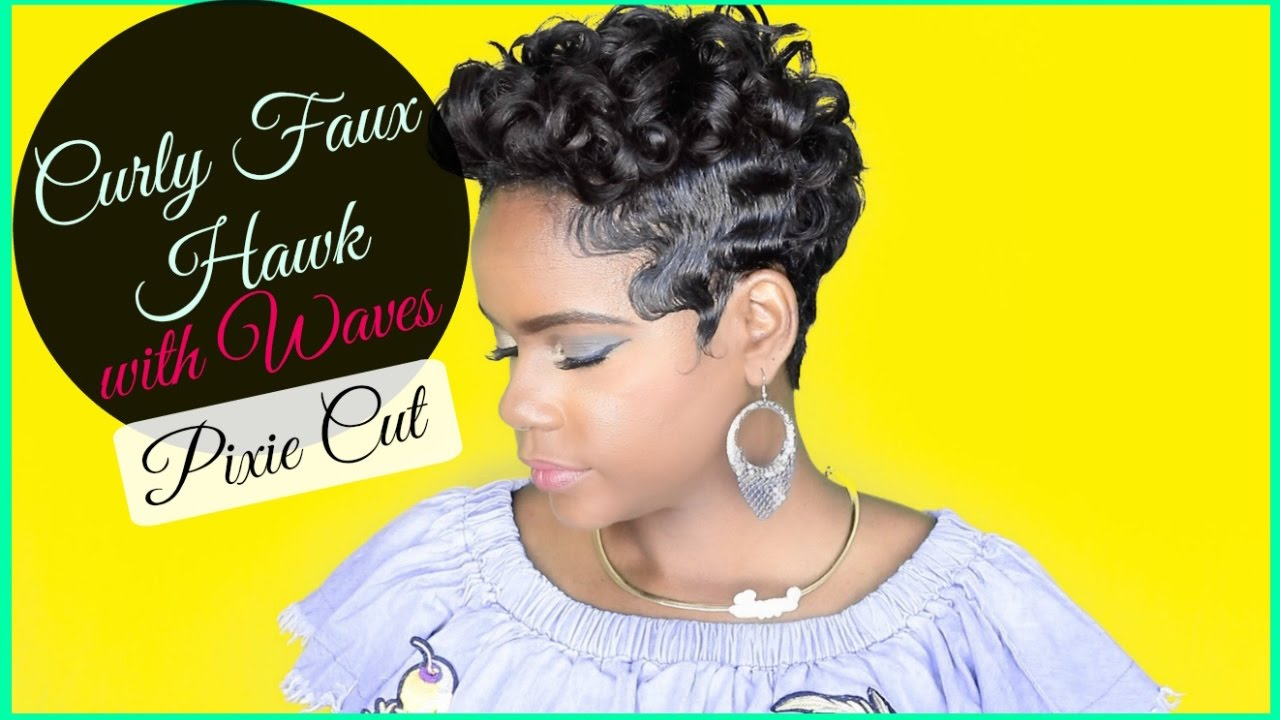 How to Style: Pixie Curly Faux Hawk with Waves | Relaxed Short Hair | Hair  Tutorial | Leann DuBois