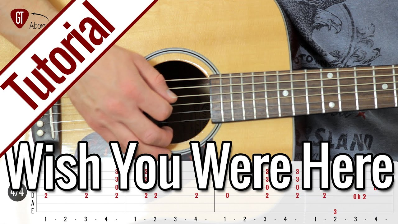 Pink Floyd - Wish You Were Here   Gitarren Tutorial ...