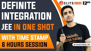 [Definite Integration JEE in One Shot] with Tricks🔥: 6 Hours Session 🕒]    IIT JEE Maths   JEE 2022