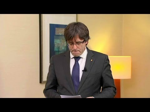 Catalan leader Carles Puigdemont surrenders to police in Belgium