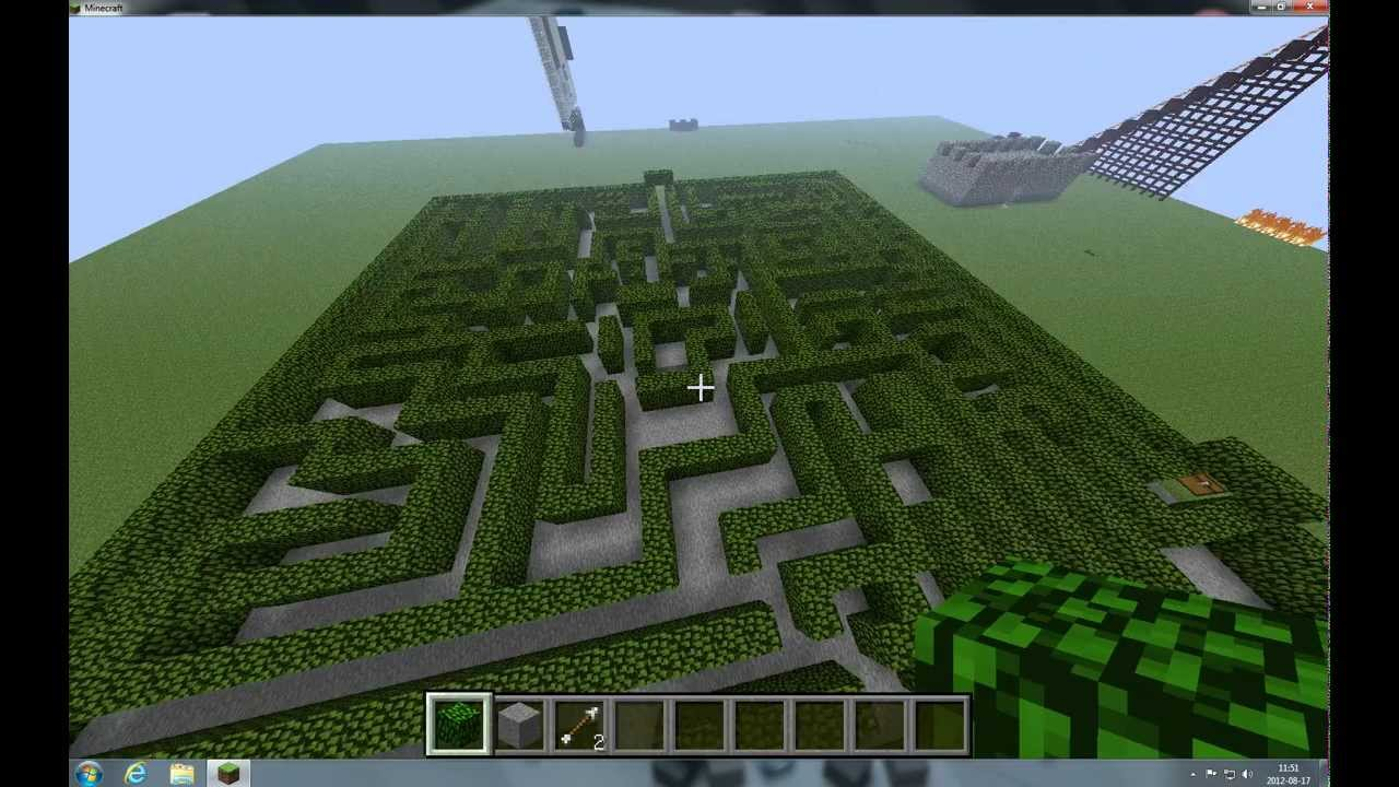 how to make a labyrinth in minecraft