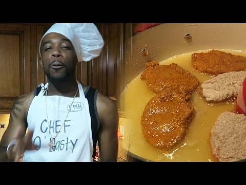 Cooking With Chef O Nasty! Hood Porkchops With Mashed Potatoes And Kool-Aid
