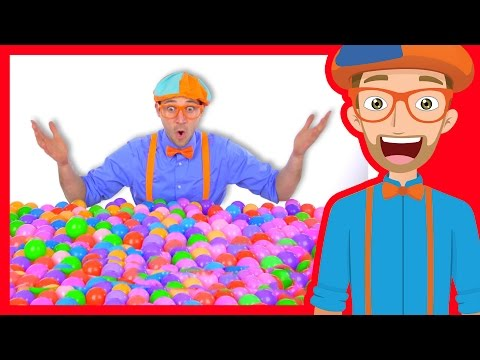 Thumbnail: Learn Colors of Machines with Blippi | Colorful Balls
