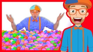 Learn Colors of Machines with Blippi | Colorful Balls