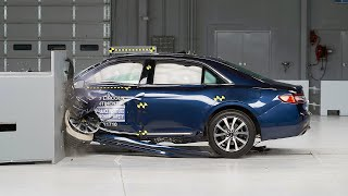 2017 Lincoln Continental driver-side small overlap IIHS crash test