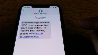 Latest Wells Fargo Text Message SCAMS To All Apple iPhone Users! 2 6 2019