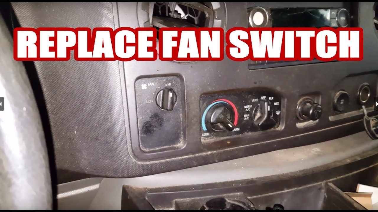 E250 Blower Fan Switch Replacement How To Replace Knob E150 E350 1999 Heater Wiring Diagram Ford Van