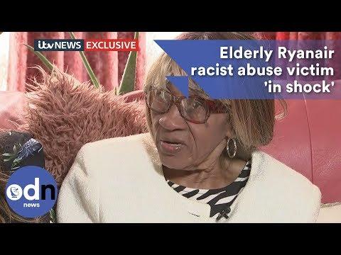 Elderly Ryanair racist abuse victim 'in shock'