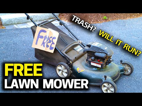 FREE Lawn Mower - Will it Run? Trash to Treasure & Tuneup Step by Step
