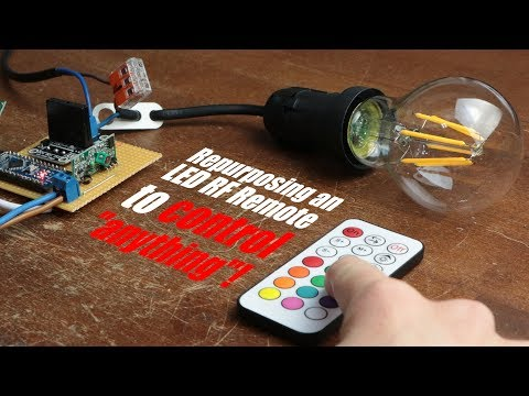 """Repurposing an LED RF Remote to control """"anything""""!"""
