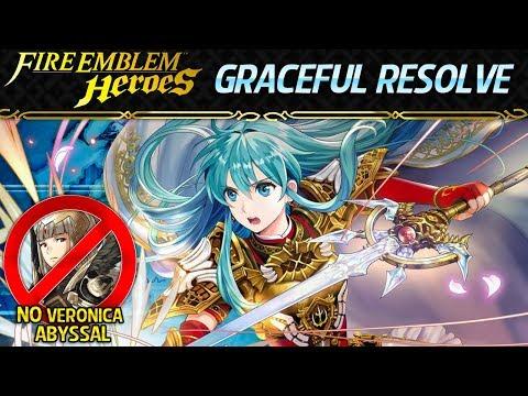 Fire Emblem Heroes - Eirika: Graceful Resolve ABYSSAL, Infernal & Lunatic F2P No SI (No Veronica)