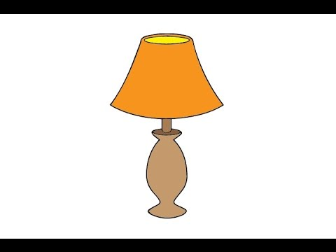 How to Draw a Lamp Easy step by step /   ...