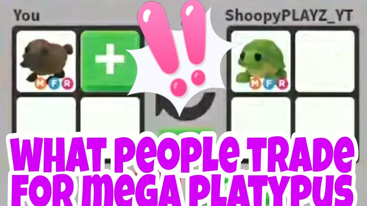 What People Trade For Mega Neon Platypus In Adopt me Trading