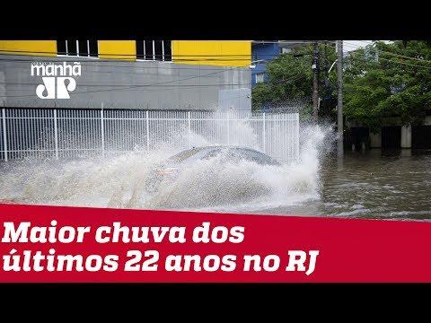Rio de Janeiro registra maior chuva dos últimos 22 anos e contabiliza mortes e estragos