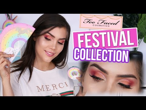 TESTING OUT TOO FACED LIFE'S A FESTIVAL COLLECTION + mini Makeup Tutorial! | Katerina Williams