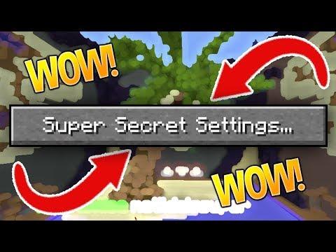 SUPER SECRET SETTINGS CHALLENGE!! (Minecraft Build Battle)