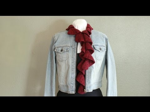 Learn To Knit A Spiral Scarf Youtube