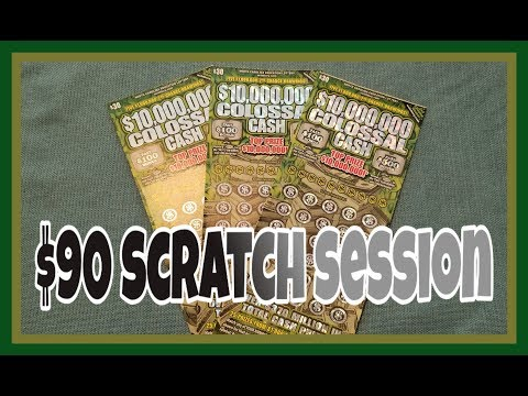 $90 Lottery Scratch Session From North Carolina Education Lottery | $10,000,000 COLOSSAL CASH