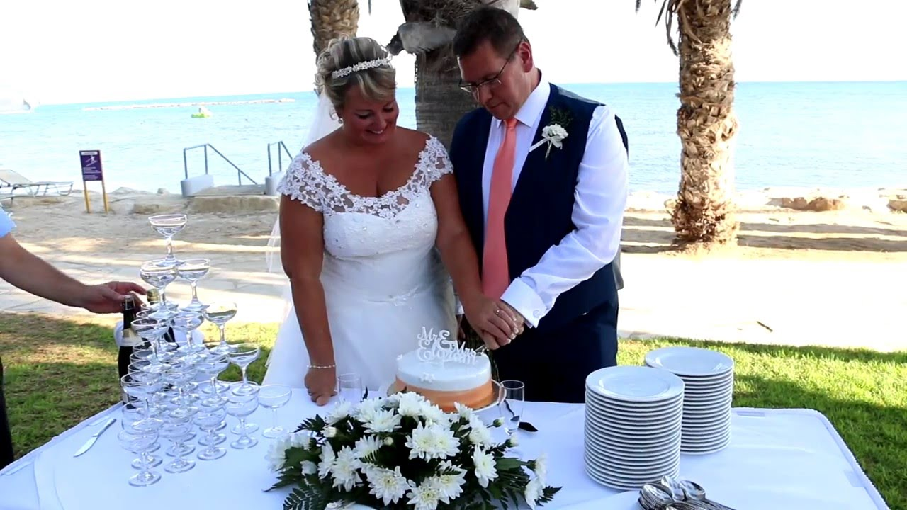 The Cyprus Wedding Of Nicky And Rob Louis Phaethon Beach Hotel Paphos