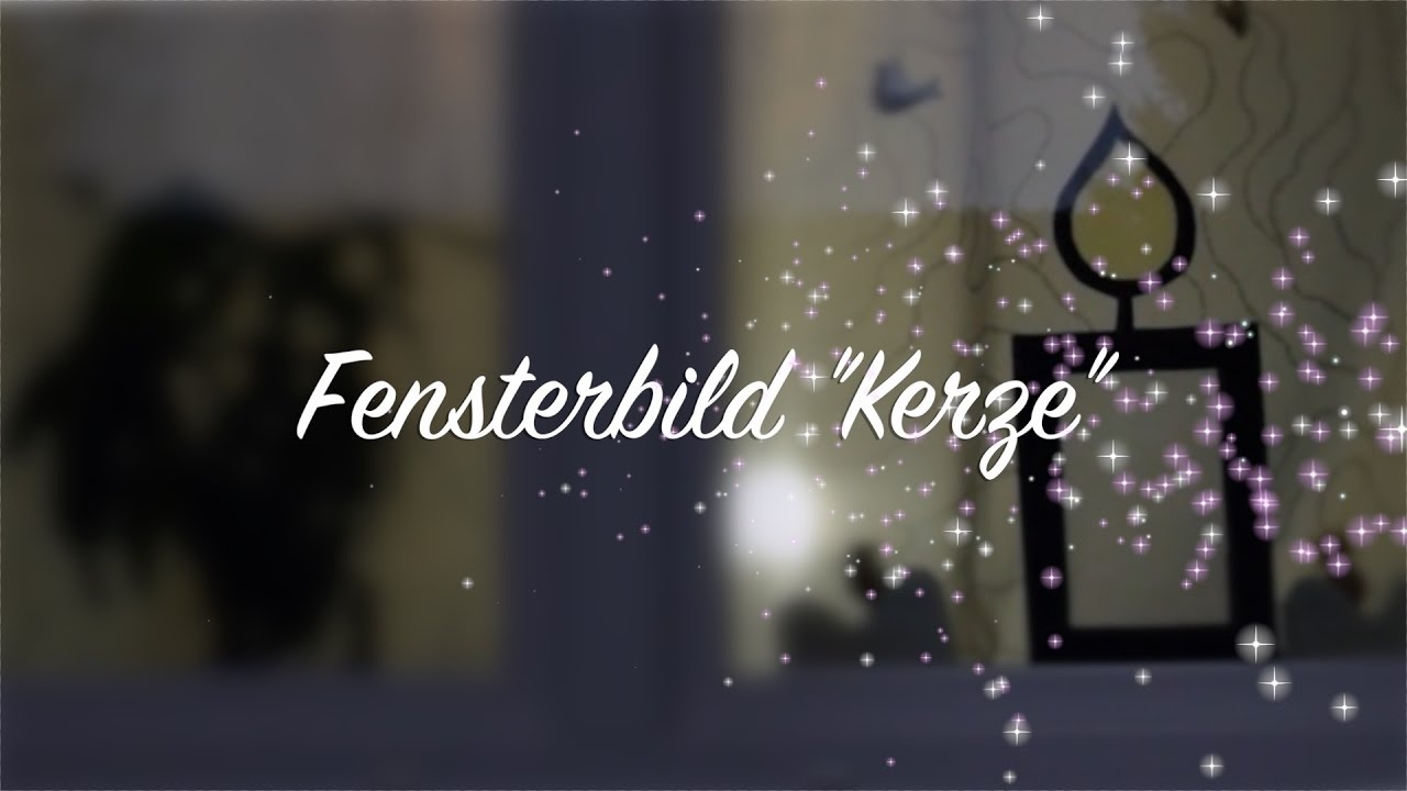 fensterbild kerze weihnachten advent deko basteln mit kindern youtube. Black Bedroom Furniture Sets. Home Design Ideas