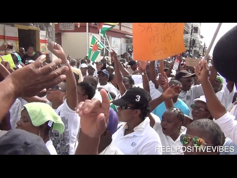 PEOPLE TELL PRIME MINISTER OF DOMINICA TO RESIGN!!