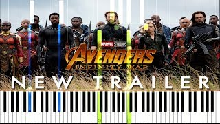 Avengers: Infinity War - Official Trailer #2 Theme [Synthesia Piano Tutorial]