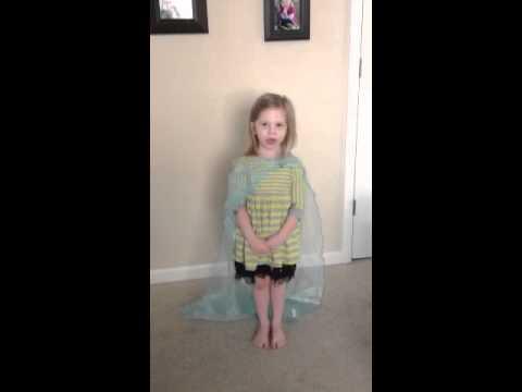 """Olivia 4 Years Old Sings """"Let It Go"""""""