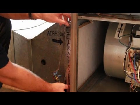 How to Replace a Gas Furnace Filter : Furnaces & Water