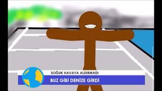Kışın Yüzen Adam(educatedear remix) ANİMATİON